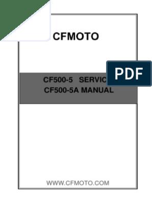500 - X5 (CF500-5A) - Technical Service Manual   Radiator   Axle