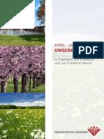 Ausflugsprogramm April Juni
