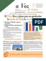 La Voz de Arroyo. Nº Noviembre 2013 www.pia-arroyomolinos.com