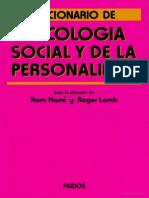 Diccionario de la psicología social y de la personalidad