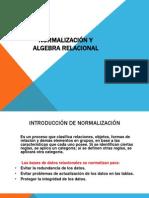 Normalizacion y Algebra Relacional