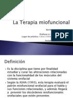 La Terapia Miofuncional