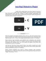 Penjelasan Sanksi Plagiat Dan Software Anti Plagiat