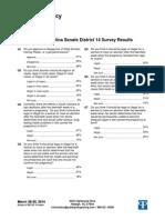 District 14 Survey Results