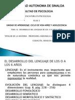EL DESARROLLO DEL LENGUAJE 0 - 6 AÑOS