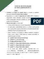 Protocol de Explorare ECG