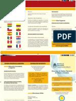 Triptico - Reconocimiento de Estudios Extranjeros