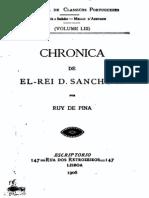 Crónica de el rei D. Sancho II, por Rui de Pina