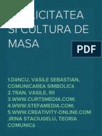 Publicitatea Si Cultura de Masa