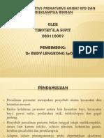 Ancaman Partus Prematurus Akibat Kpd Dan Preeklampsia Ringan