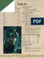 Tablas de Referencia Rápida (Warhammer ESDLA)