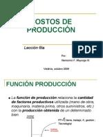 COSTOS DE PRODUCCIÓN (lección 6ta)