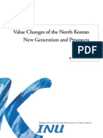 Value Changes of the North Korean New Generation