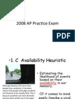 2008 Practice Exam Answers
