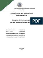 Desafio Direito Empresarial Contrato Social LTDA[1] Postagem 1- w