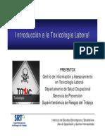 Toxicologia Laboral y