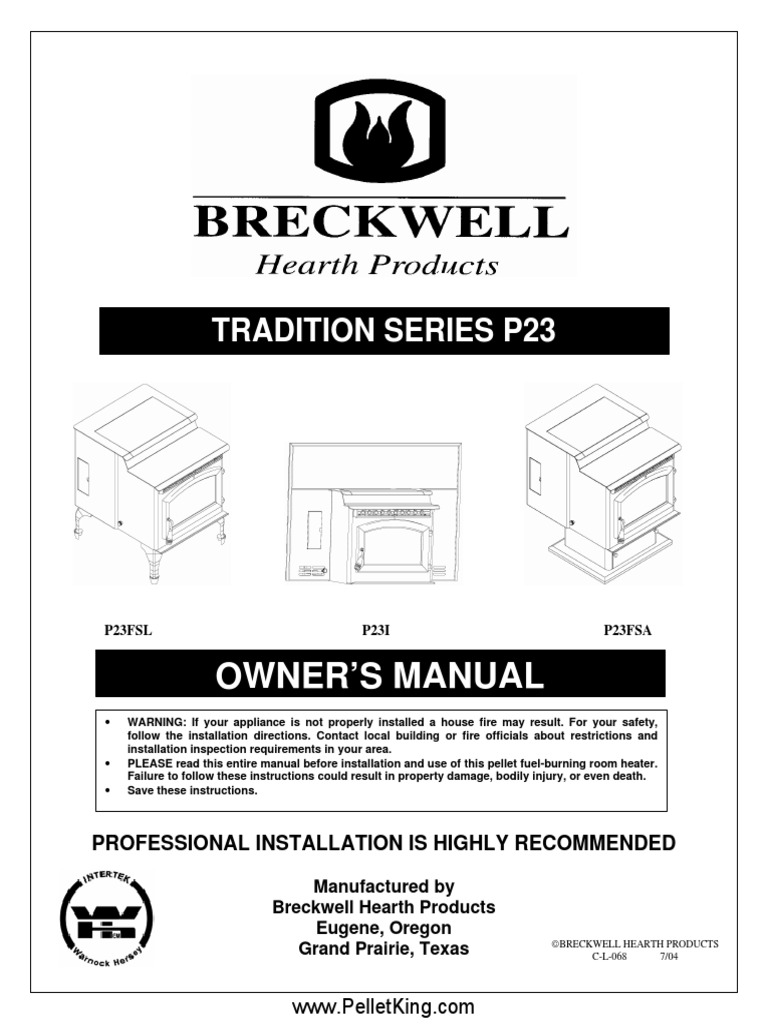 Breckwell pellet stove owners manual on breckwell gas stoves, wood stove diagram, breckwell pellet stove replacement parts,