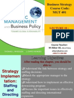 Lec 18 Strategy Implementation Staffing and Directing