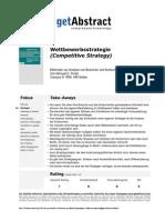 Wettbewerbsstrategie Porter Od