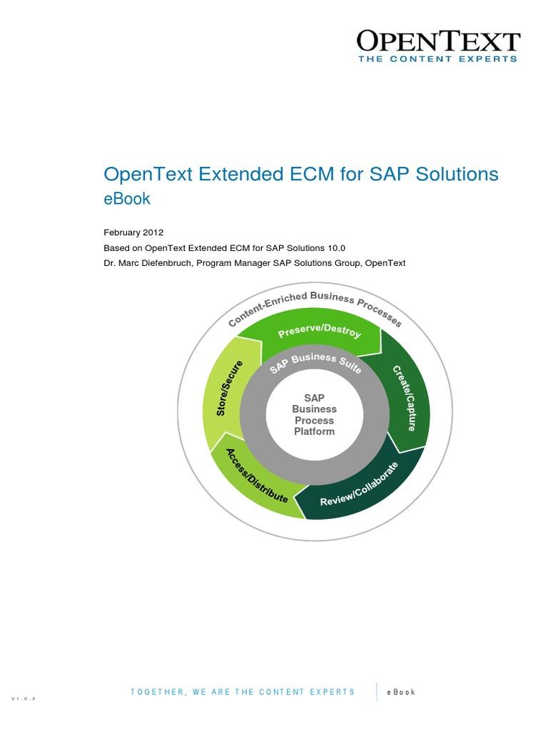 Opentext extended ecm for sap solutions 10 ebook records opentext extended ecm for sap solutions 10 ebook records management sap se fandeluxe Gallery