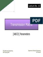 Lec.10 ABCD Parameters