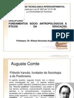Slide Roteiro Das Aulas - De Fundamentos Socio Antropologicos