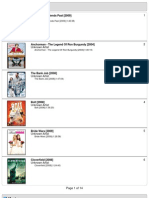 120gb iPod Classic Movie List