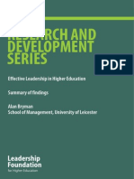 S1-4 Bryman - Effective Leadership - Summary 0f Findings