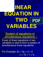 Coresub Att Maths 27 Linear Equation in Two Variables