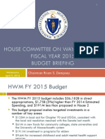 FY15 House Ways and Means Budget Briefing