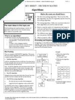 D1 Revision Sheet