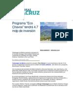 08-04-2014 El Universal - Programa, Eco Chavos tendrá 4.7 mdp de inversión.