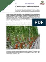 Las Soluciones Nutritivas Para Cultivos Protegidos