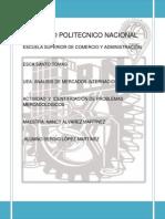 IDENTIFICACIÓN DE PROBLEMAS MERCADOLOGICOS