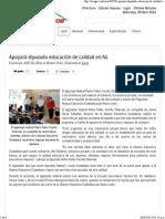 08-04-14 Apoyará diputado educación de calidad en NL