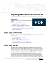 SonicOS 5.5 Single Sign on Feature Module