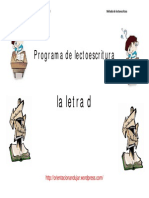 Fichas de Lectoescritura Letra d Primera Parte