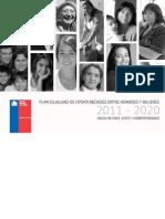 Plan de Igualdad Hombres y Mujeres Chile