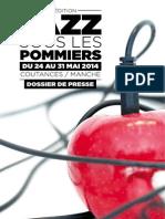 festival Jazz sous les Pommiers 2014  - dossier de presse