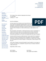 Letter from Equality Texas and Equality Texas Foundation chairs to the Board of Trustees of the Lumberton Independent School District