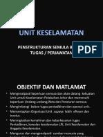 Cadangan Carta Tugas Unit Keselamatan