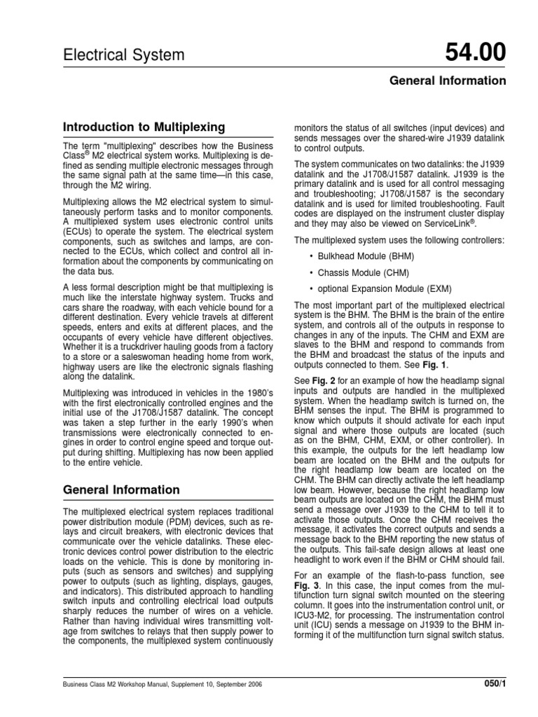 Multiplexing System Overview Headlamp Switch Taskmaster Electric Heaters Wiring Diagram