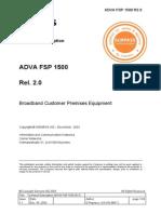 Technical Description FSP 1500 Rel. 2.0
