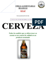 CERVEZA - INTRO ANALISIS ISTAP (INSTITUTO DE EDUCACION SUPERIOR TECNOLOGICO PUBLICO APARICIO POMARES) INDUSTRIAS ALIMENTARIAS