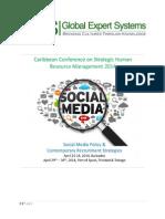 Caribbean Conference on Strategic Human Resource Management 2014 - Trinidad