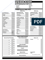 Aberrant4 Page character sheet