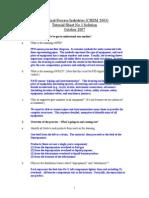 CHEM2003 Tutorial Sheet 3 Solution