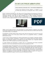 P - Propiedades de Los Policarbonatos - EII- UVa