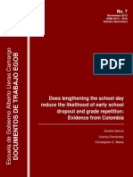 Does lengthening the school day reduce the likelihood of early school dropout and grade repetition: Evidence from Colombia