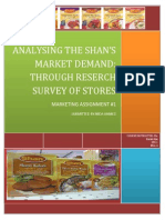Shan- Marketing strategy Analysis
